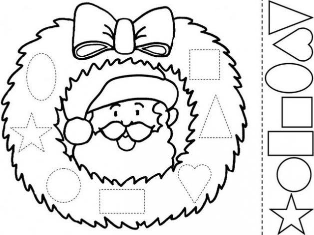 Adornos de navidad para colorear e imprimir, masquelibros