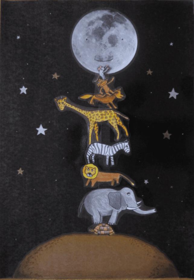 Animales del cuento a que sabe la luna para imprimir, masquelibros