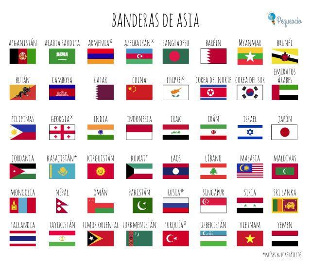 Banderas del mundo para imprimir, masquelibros
