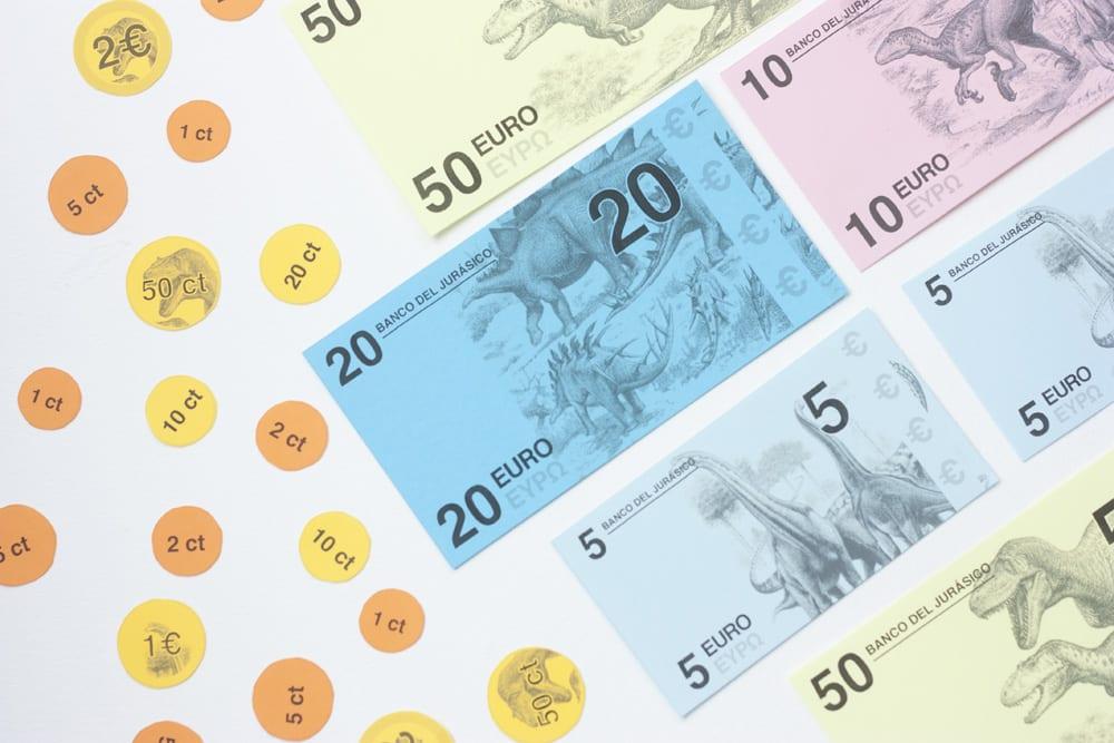 Billetes euros para imprimir pdf, masquelibros