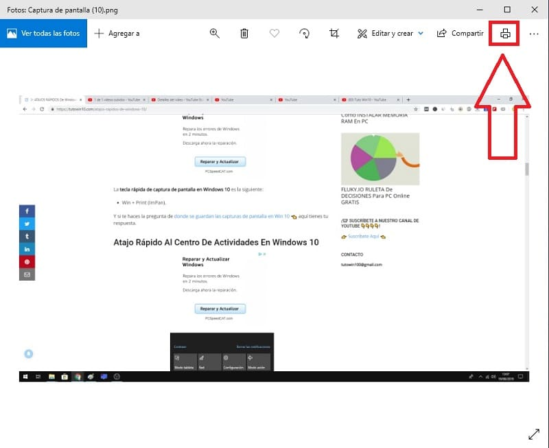 Como imprimir pantalla en windows 10, masquelibros