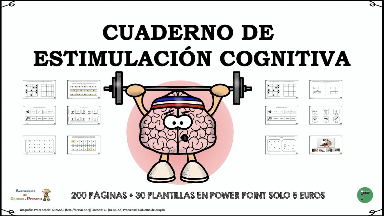Cuadernos de ejercicios de estimulación cognitiva para imprimir, masquelibros