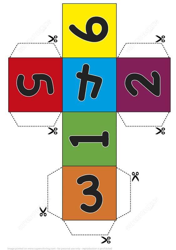 Desarrollo de un cubo para imprimir, masquelibros