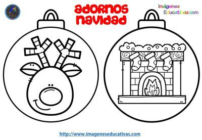 Dibujos de bolas de navidad para colorear e imprimir, masquelibros
