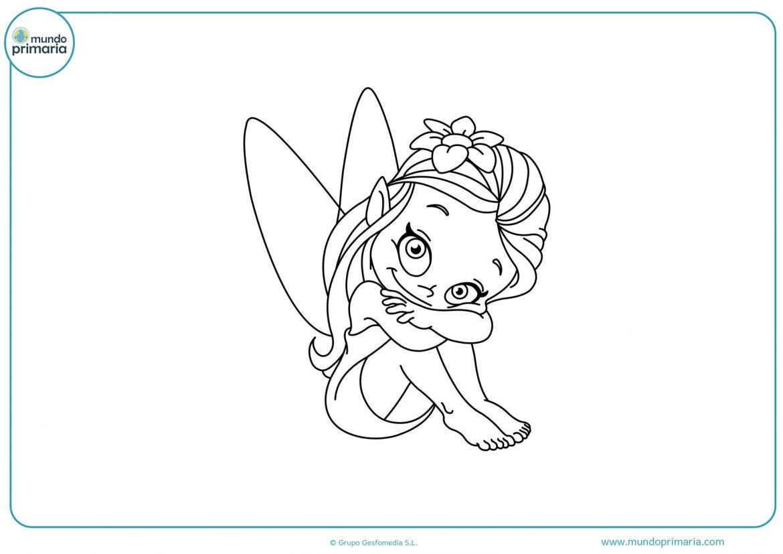 Dibujos de hadas y duendes para colorear e imprimir, masquelibros