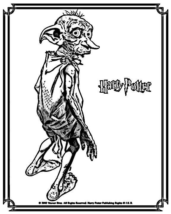 Dibujos de harry potter para imprimir, masquelibros