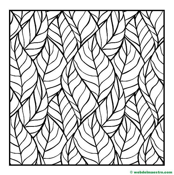 Dibujos de hojas para imprimir, masquelibros