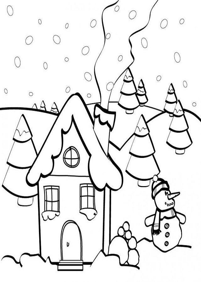 Dibujos de invierno para imprimir, masquelibros