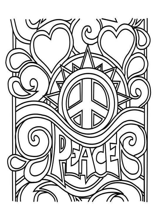 Dibujos de la paz para imprimir, masquelibros