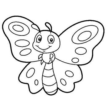 Dibujos de mariposas para colorear e imprimir, masquelibros
