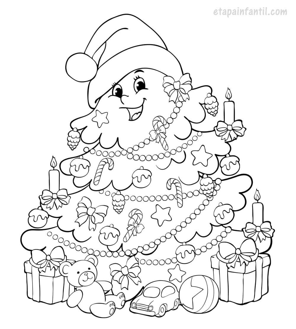 Dibujos de navidad para colorear e imprimir, masquelibros