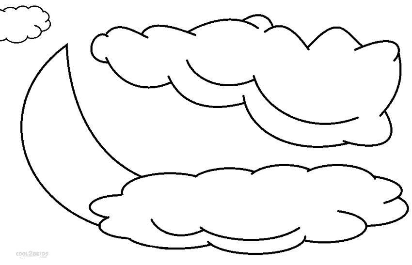 Dibujos de nubes para imprimir y colorear, masquelibros