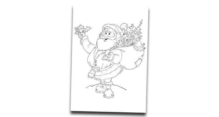 Dibujos de papa noel para colorear e imprimir, masquelibros