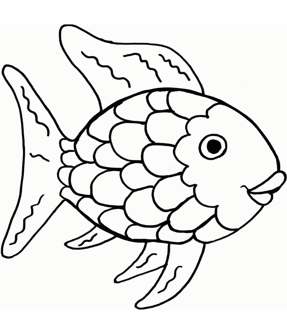 Dibujos de peces para colorear e imprimir, masquelibros