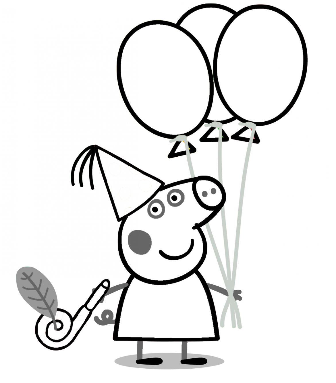 Dibujos de peppa pig para imprimir tamaño folio, masquelibros