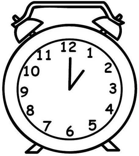 Dibujos de relojes para imprimir, masquelibros