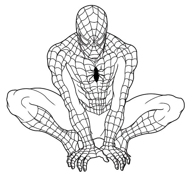 Dibujos de spiderman para imprimir, masquelibros