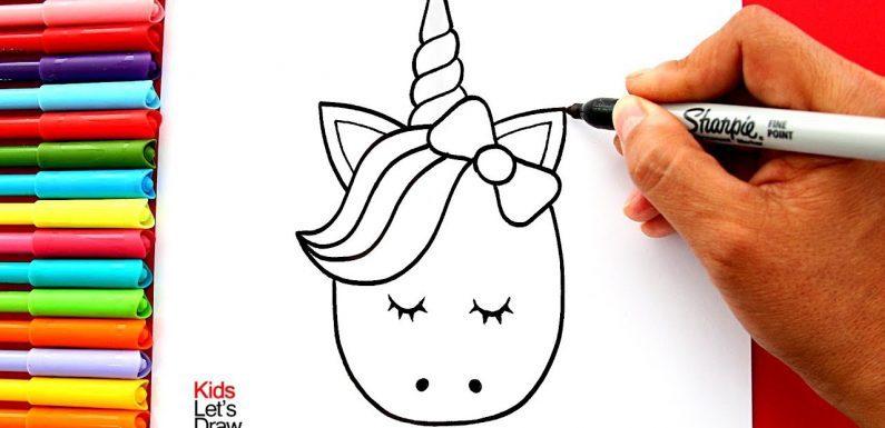 Dibujos de unicornios kawaii para colorear e imprimir, masquelibros