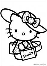 Dibujos hello kitty para colorear e imprimir gratis, masquelibros