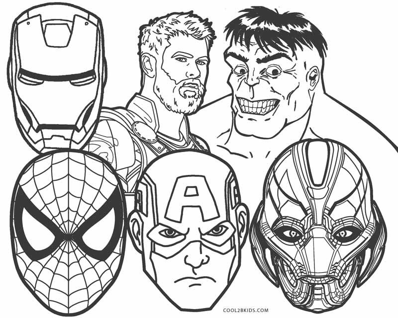 Dibujos marvel para colorear e imprimir, masquelibros