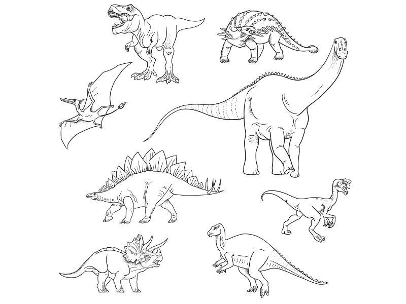 Dibujos para colorear de dinosaurios para imprimir, masquelibros