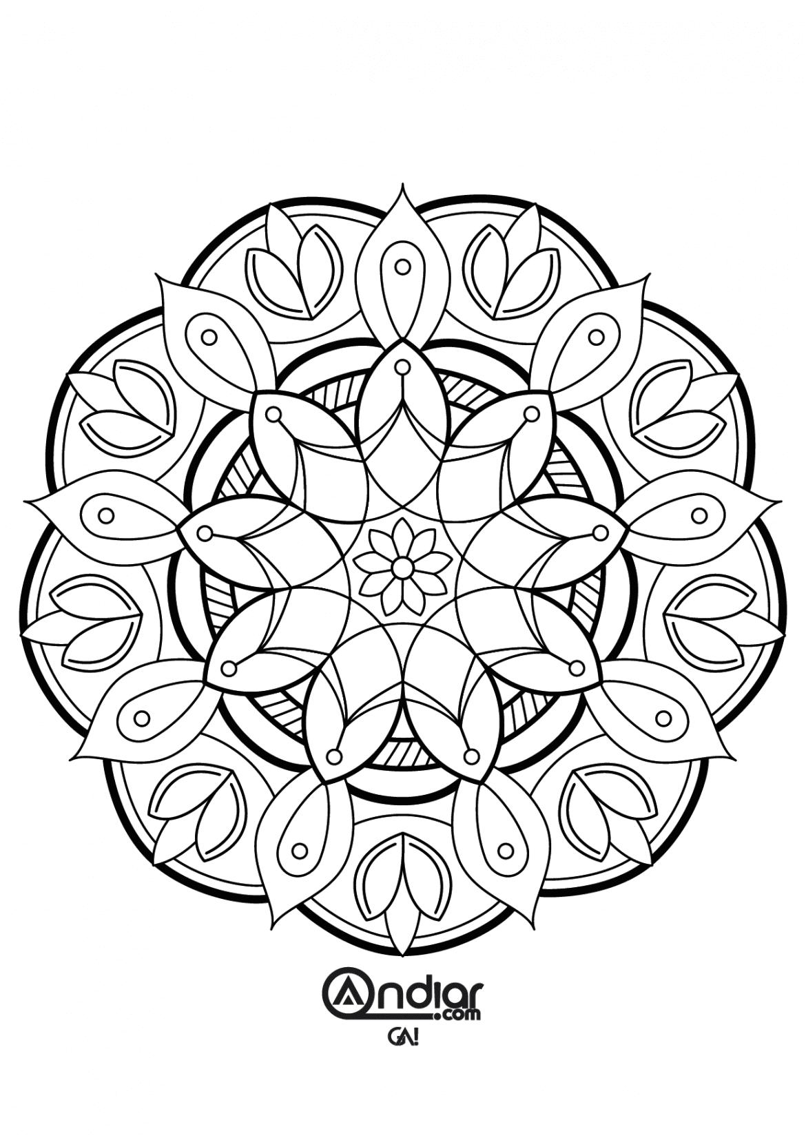 Dibujos para imprimir de mandalas, masquelibros