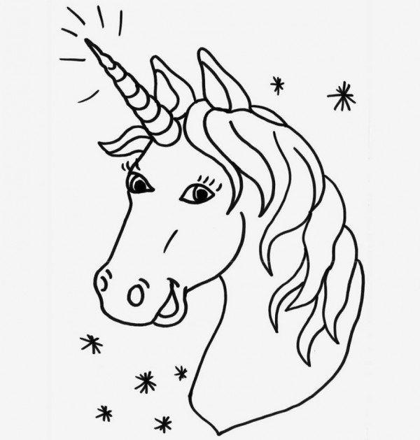 Dibujos para imprimir de unicornio, masquelibros