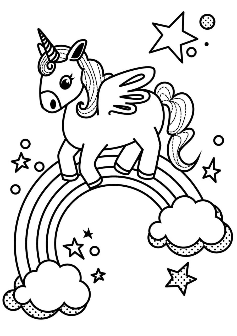 Dibujos para imprimir de unicornios, masquelibros