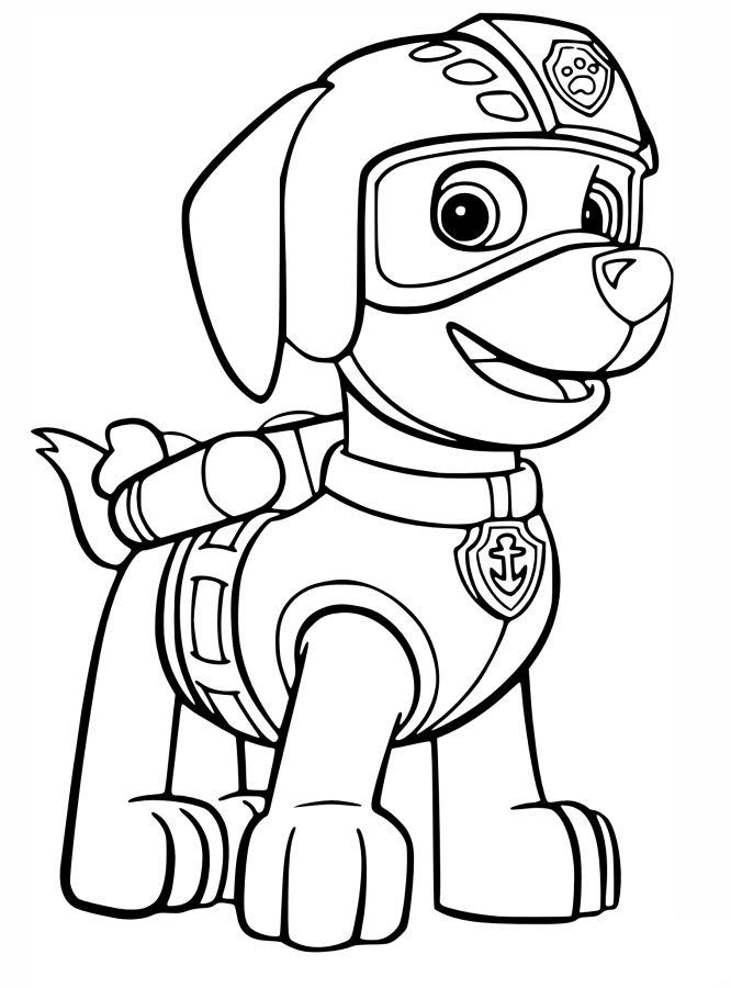 Dibujos patrulla canina para imprimir, masquelibros