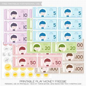 Dinero de juguete para imprimir, masquelibros