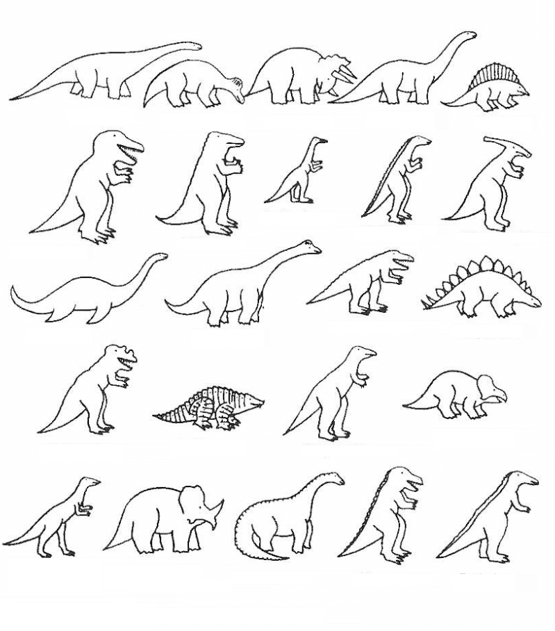 Dinosaurio para colorear e imprimir, masquelibros