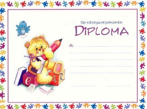 Diplomas infantiles para imprimir y rellenar, masquelibros