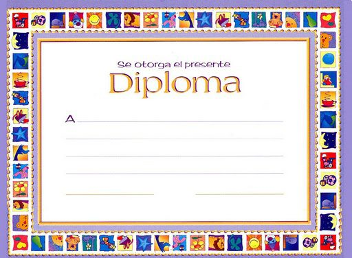 Diplomas para imprimir para niños, masquelibros