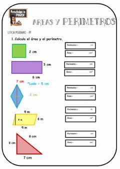 Ejercicios de areas y perimetros 6o primaria para imprimir, masquelibros