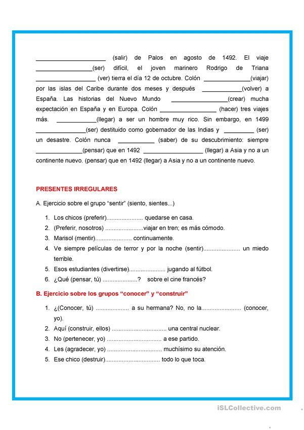 Ejercicios de gramatica en frances para imprimir, masquelibros
