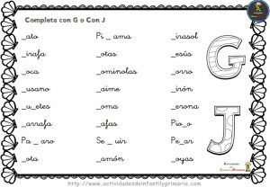 Ejercicios de ortografia para imprimir primaria, masquelibros