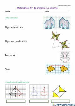 Ejercicios de simetria y traslacion 6o primaria para imprimir, masquelibros