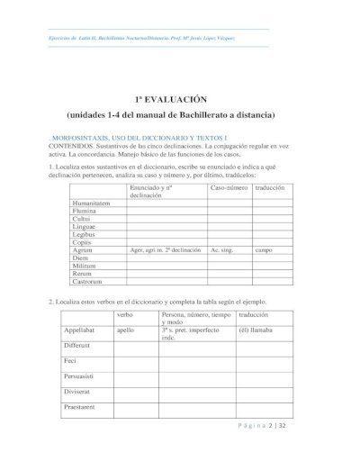 Ejercicios declinaciones latin para imprimir, masquelibros