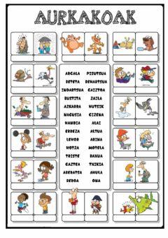 Ejercicios euskera 3 primaria para imprimir, masquelibros