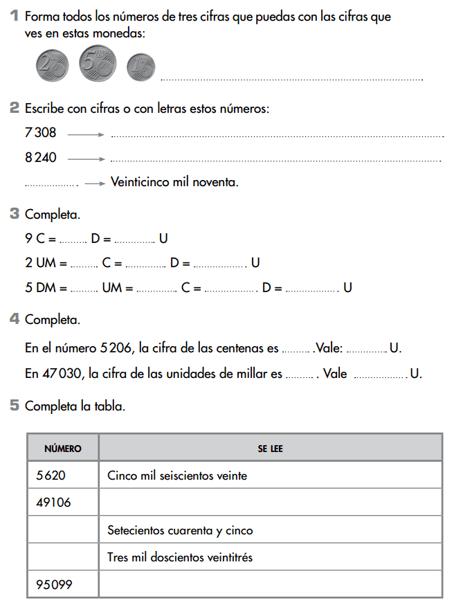 Ejercicios matematicas 3 primaria para imprimir anaya, masquelibros