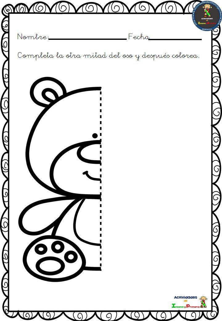 Ejercicios simetria primaria para imprimir, masquelibros