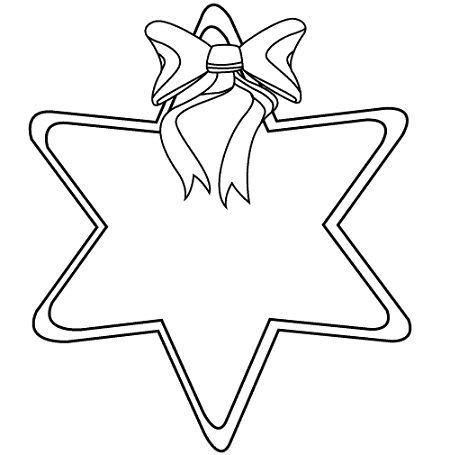 Estrella de navidad para imprimir, masquelibros