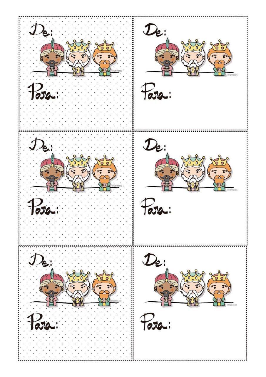 Etiquetas para regalos de reyes para imprimir gratis, masquelibros