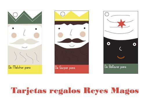Etiquetas reyes magos para imprimir, masquelibros