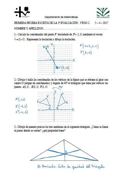 Examenes de matematicas 1o eso para imprimir, masquelibros