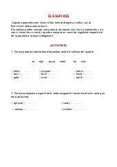 Exercicis de prefixos i sufixos per imprimir, masquelibros