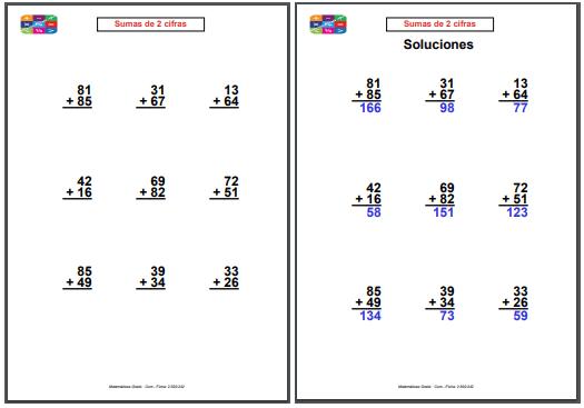 Fichas de calculo 4o primaria para imprimir, masquelibros