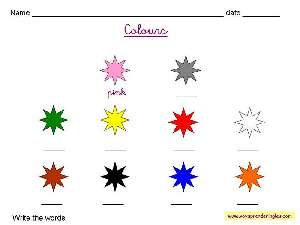 Fichas de colores en ingles para imprimir, masquelibros