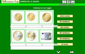 Fichas de euros y centimos para imprimir, masquelibros
