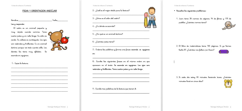 Fichas de lengua para imprimir de primero de primaria, masquelibros